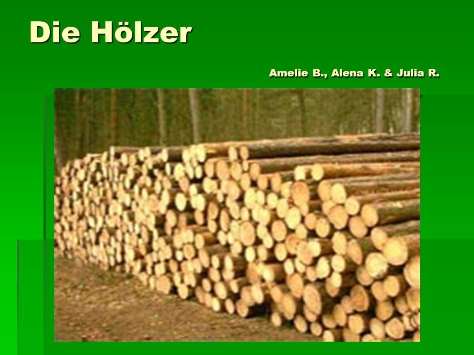 Die Hölzer Amelie B., Alena K. & Julia R.