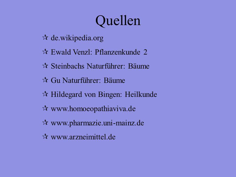 Quellen de.wikipedia.org Ewald Venzl: Pflanzenkunde 2