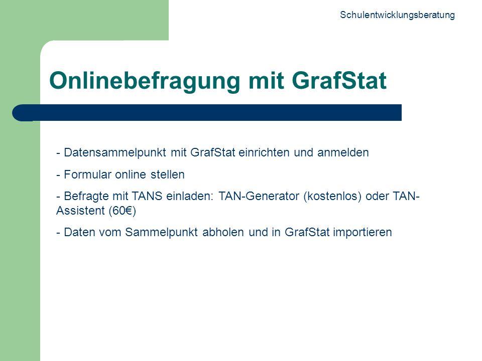 Onlinebefragung mit GrafStat