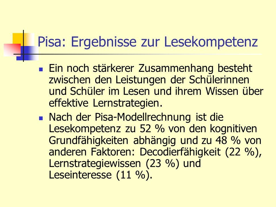 Pisa: Ergebnisse zur Lesekompetenz
