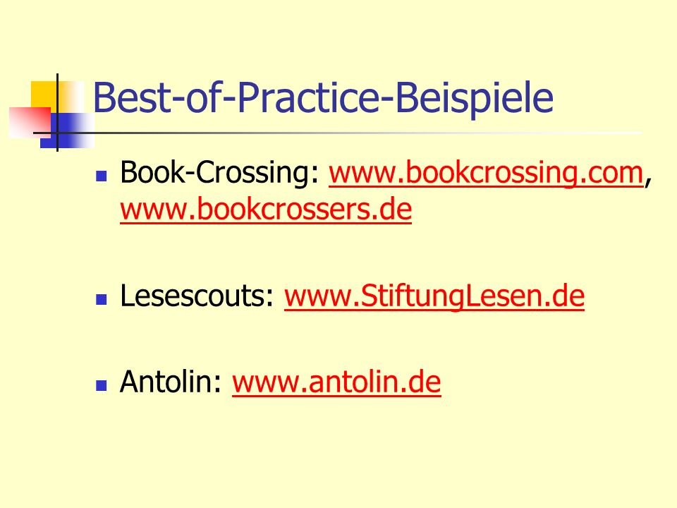 Best-of-Practice-Beispiele