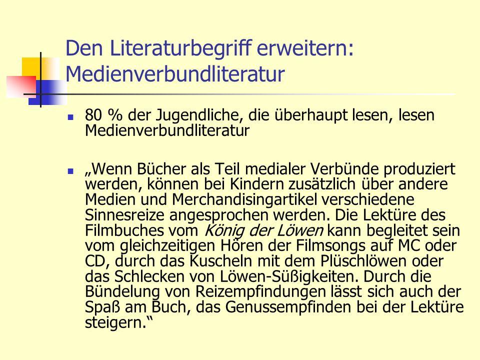 Den Literaturbegriff erweitern: Medienverbundliteratur