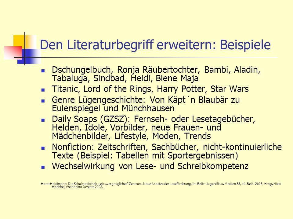 Den Literaturbegriff erweitern: Beispiele