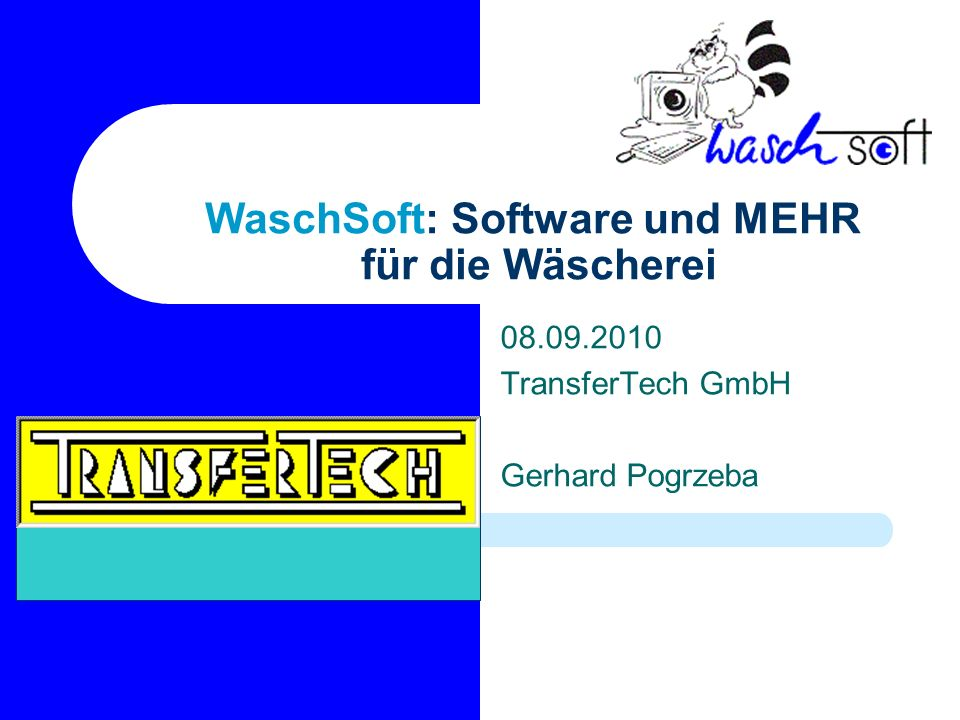 WaschSoft: Software und MEHR für die Wäscherei