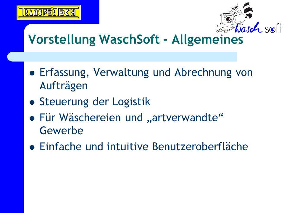 Vorstellung WaschSoft - Allgemeines