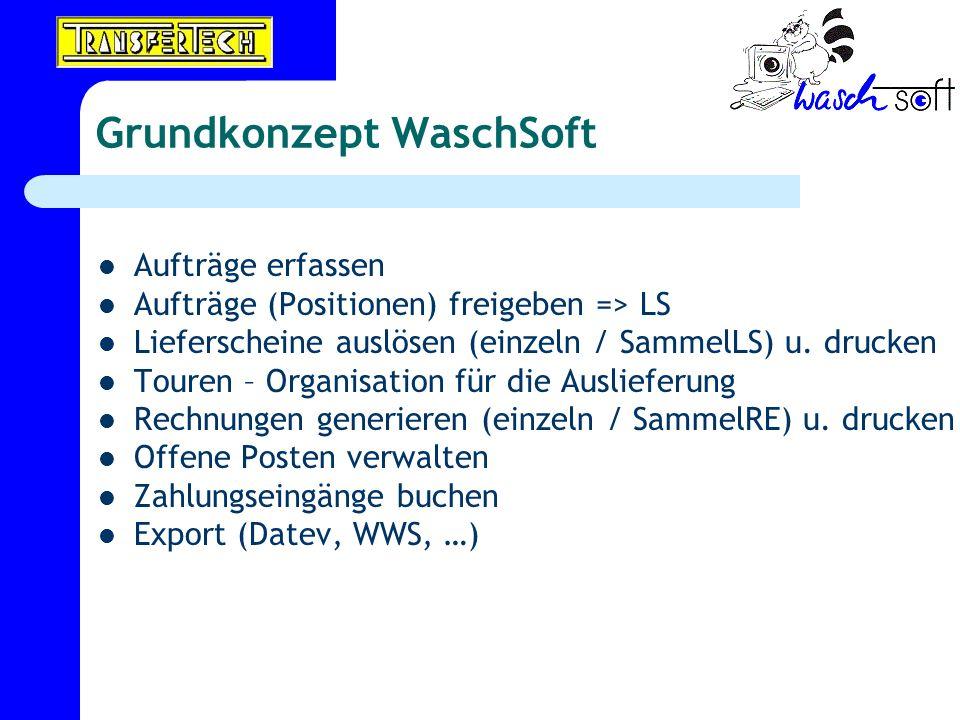 Grundkonzept WaschSoft
