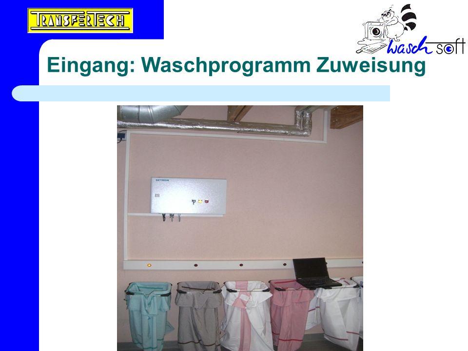 Eingang: Waschprogramm Zuweisung