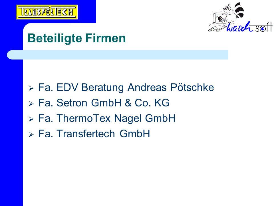 Beteiligte Firmen Fa. EDV Beratung Andreas Pötschke