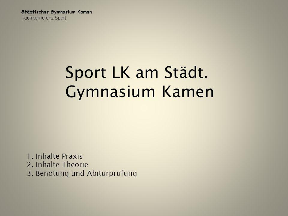 Sport LK am Städt. Gymnasium Kamen