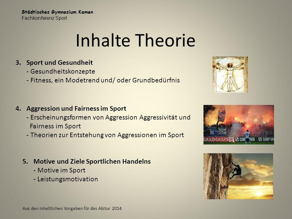 Inhalte Theorie Sport und Gesundheit - Gesundheitskonzepte