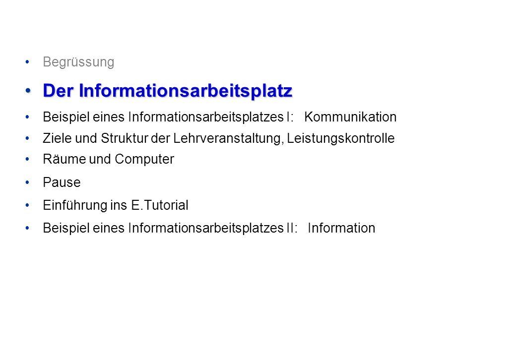 Der Informationsarbeitsplatz