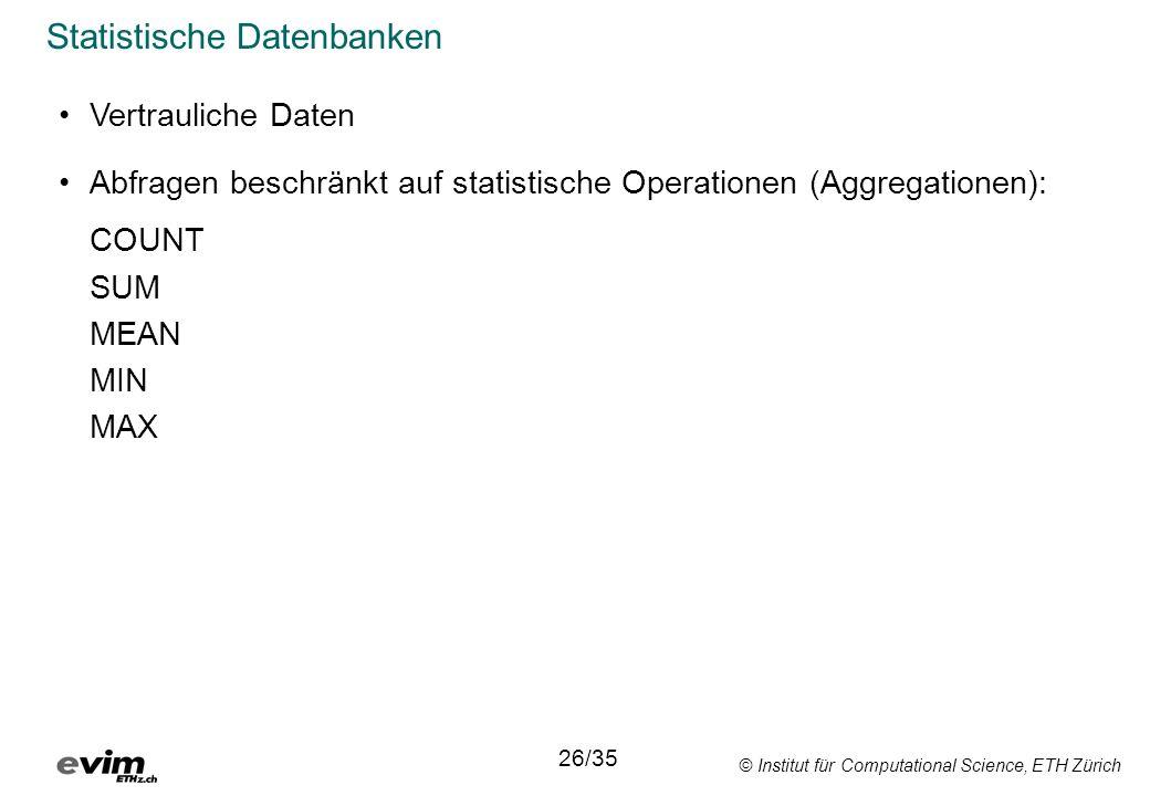 Statistische Datenbanken