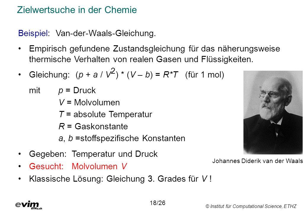 Zielwertsuche in der Chemie