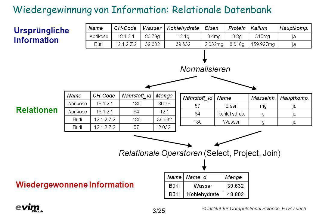 Wiedergewinnung von Information: Relationale Datenbank