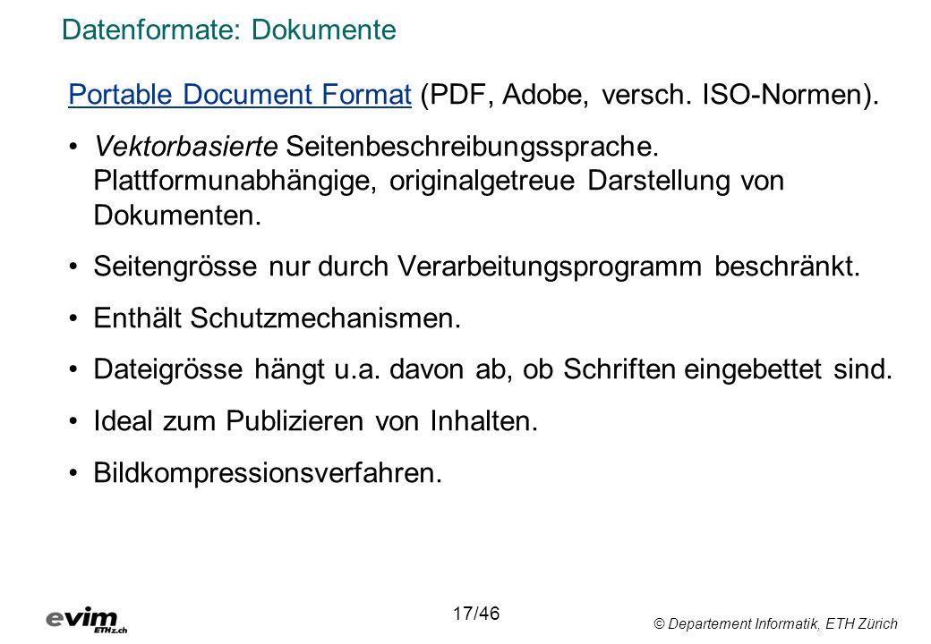 Datenformate: Dokumente