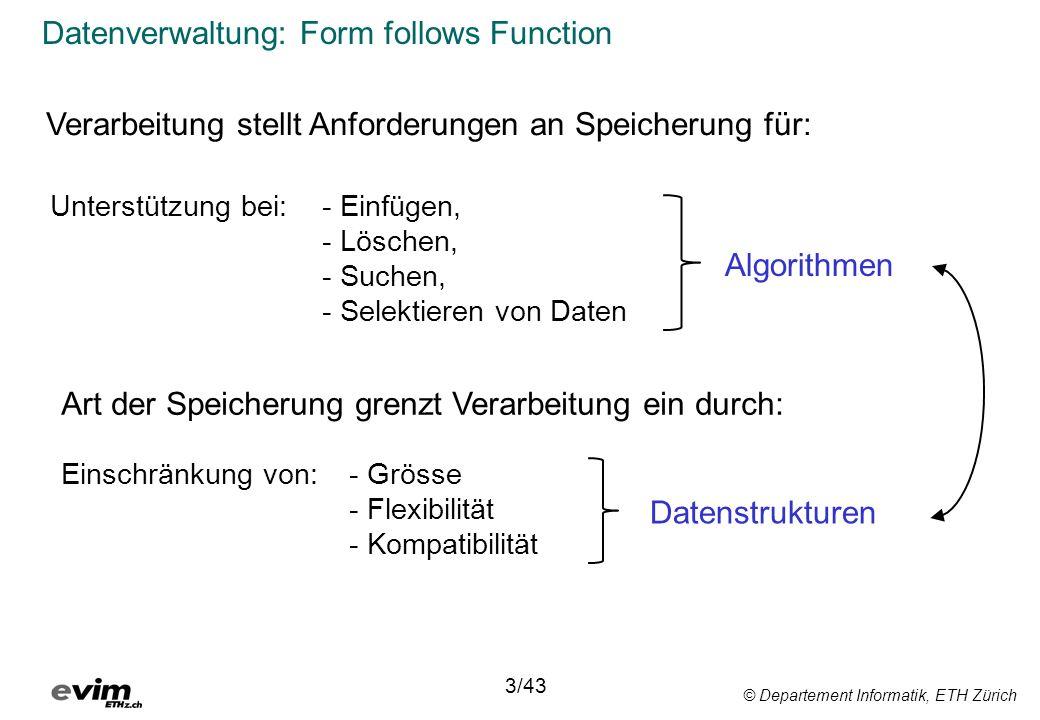 Datenverwaltung: Form follows Function