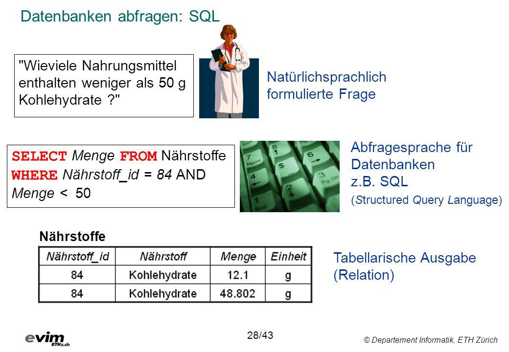 Datenbanken abfragen: SQL