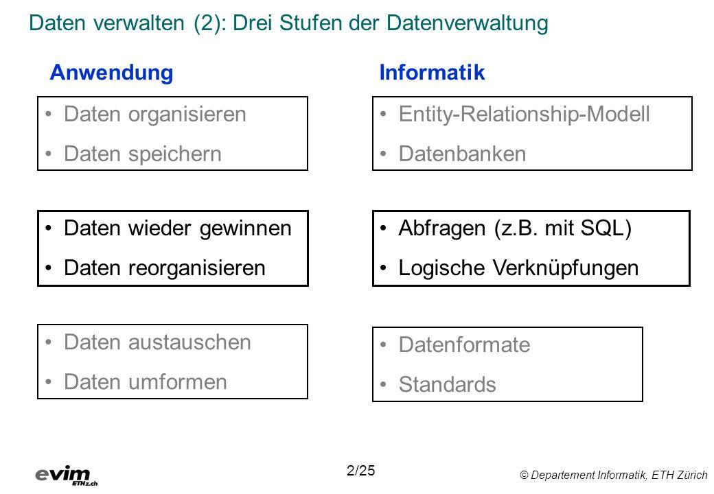 Daten verwalten (2): Drei Stufen der Datenverwaltung
