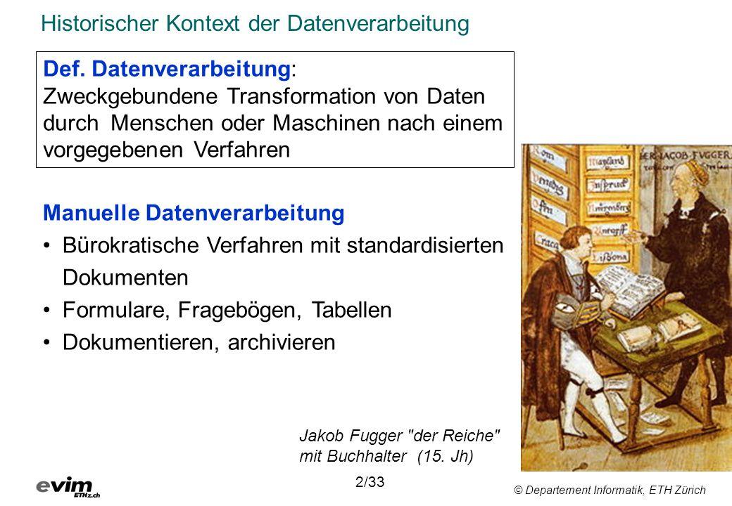 Historischer Kontext der Datenverarbeitung