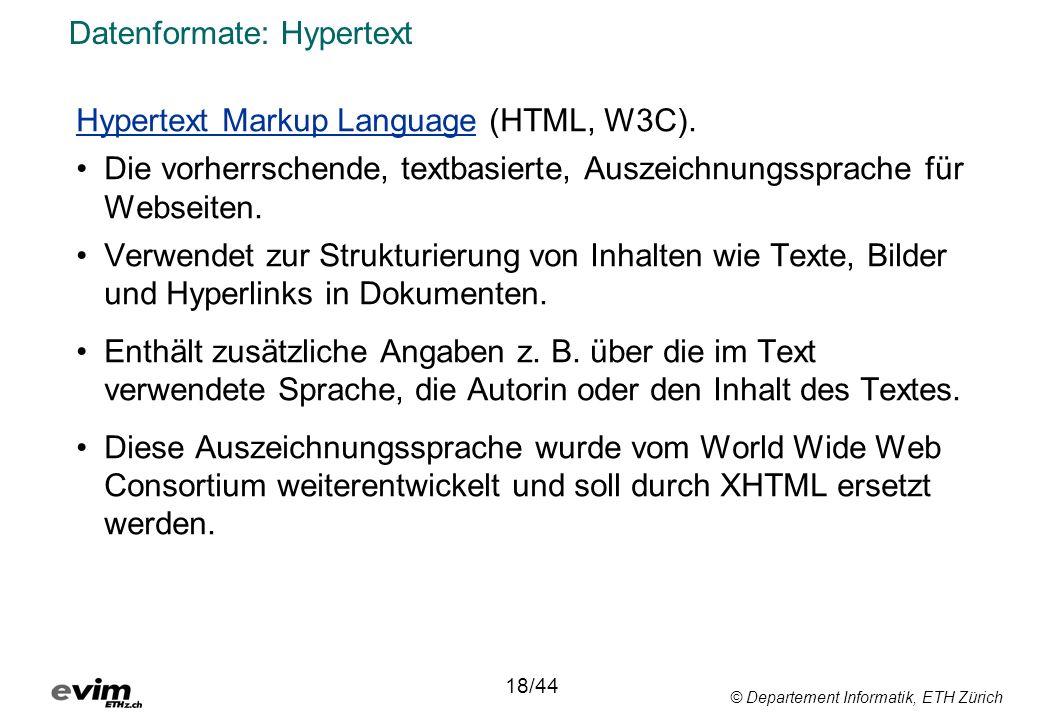 Datenformate: Hypertext