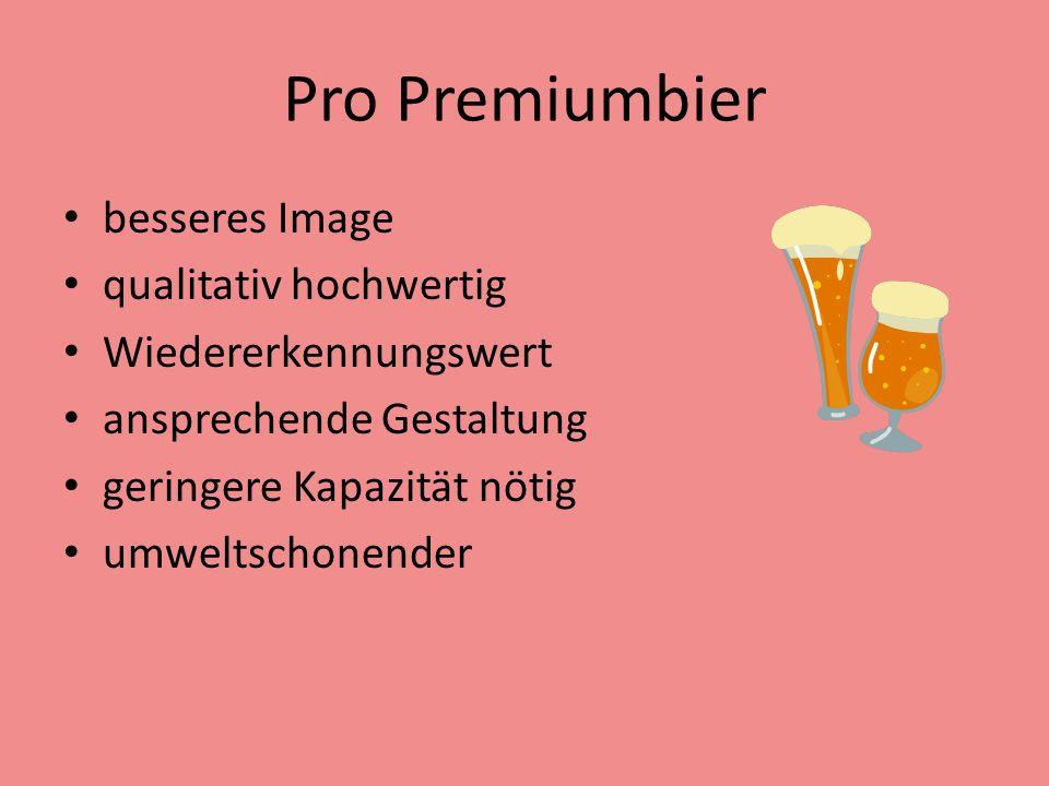 Pro Premiumbier besseres Image qualitativ hochwertig
