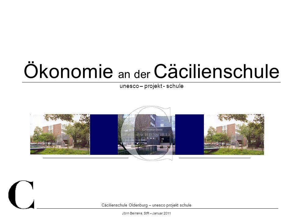 Ökonomie an der Cäcilienschule unesco – projekt - schule