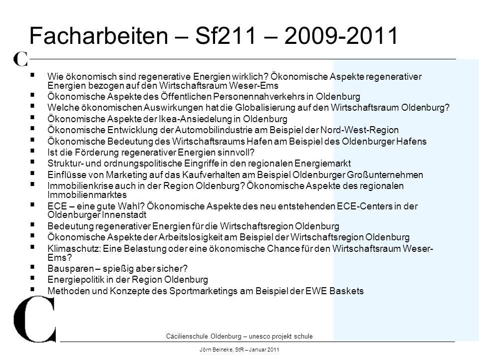 Facharbeiten – Sf211 – 2009-2011