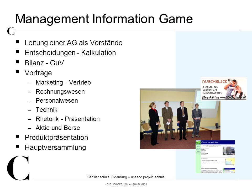 Management Information Game
