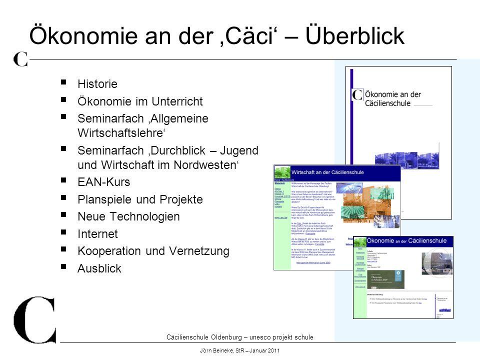 Ökonomie an der 'Cäci' – Überblick