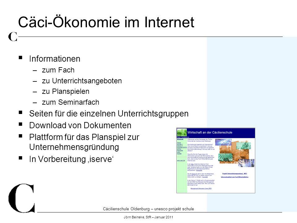 Cäci-Ökonomie im Internet