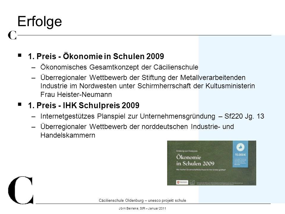 Erfolge 1. Preis - Ökonomie in Schulen 2009