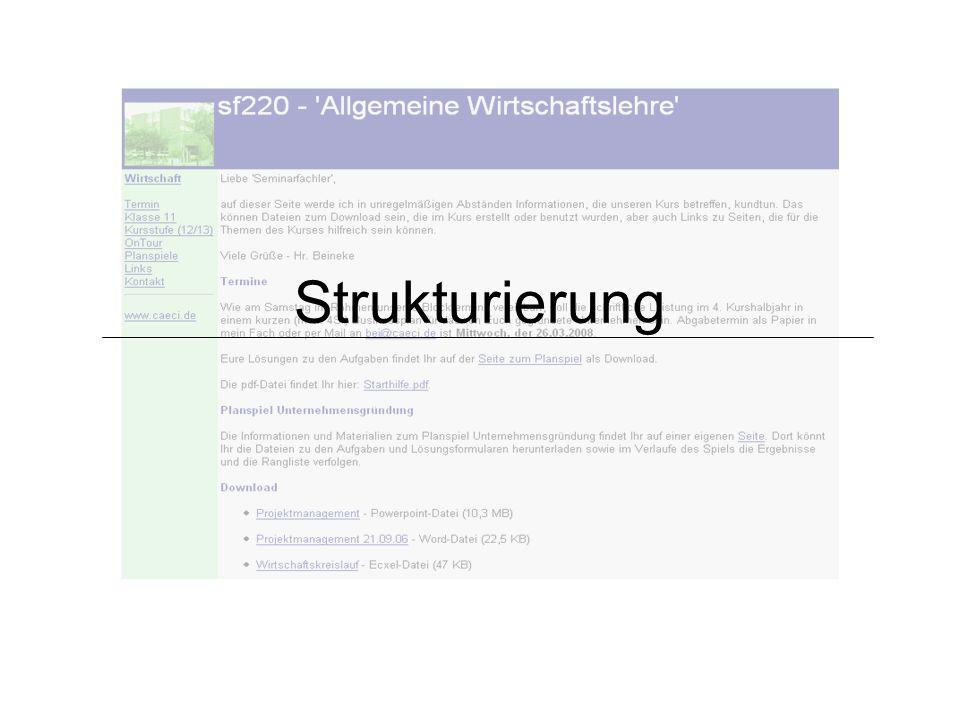 Strukturierung