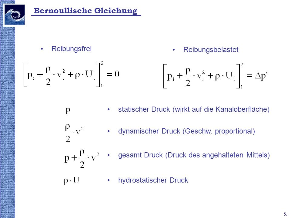 Bernoullische Gleichung