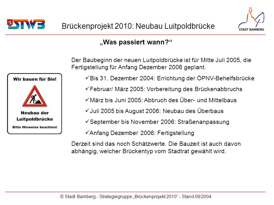 Brückenprojekt 2010: Neubau Luitpoldbrücke