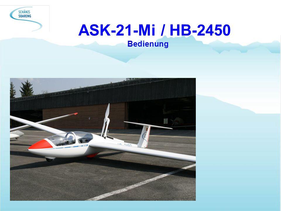 ASK-21-Mi / HB-2450 Bedienung