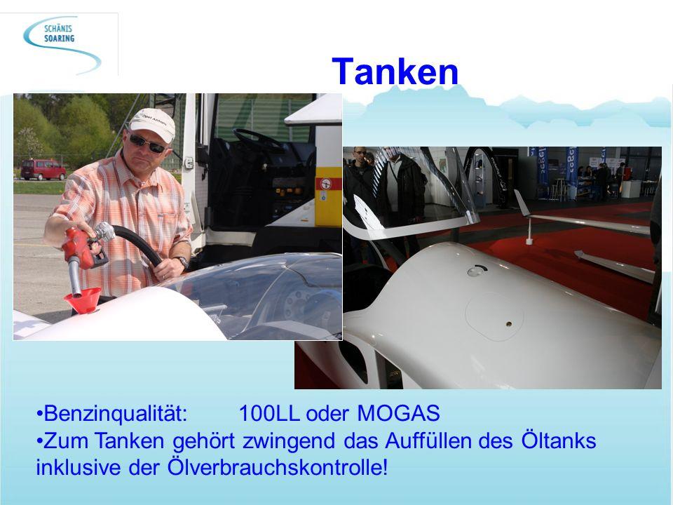 Tanken Benzinqualität: 100LL oder MOGAS