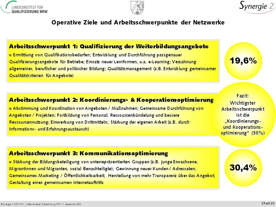 Operative Ziele und Arbeitsschwerpunkte der Netzwerke