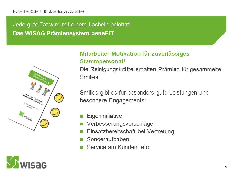 Das WISAG Prämiensystem beneFIT