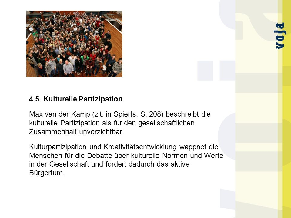 4.5. Kulturelle Partizipation