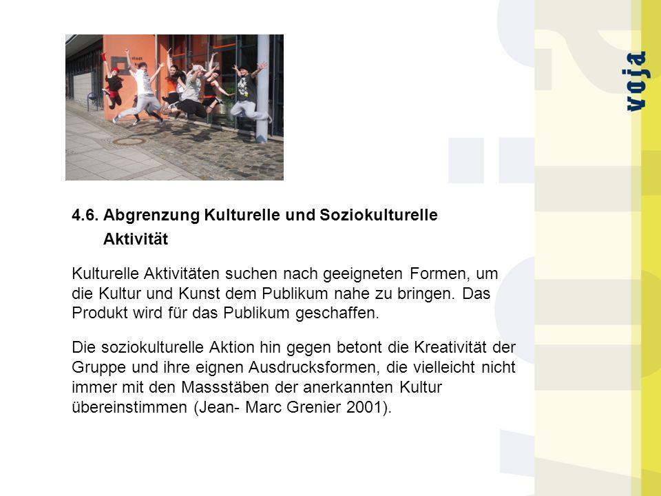 4.6. Abgrenzung Kulturelle und Soziokulturelle