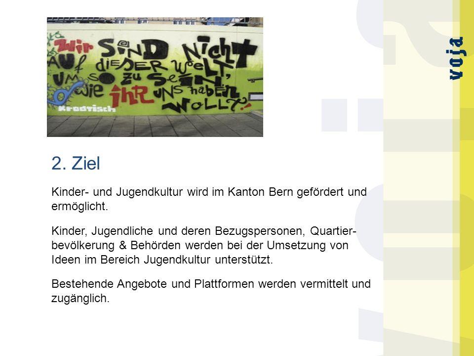 2. Ziel Kinder- und Jugendkultur wird im Kanton Bern gefördert und ermöglicht.