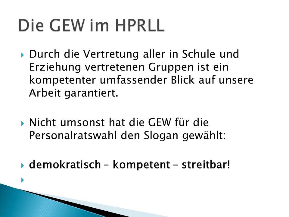 Die GEW im HPRLL