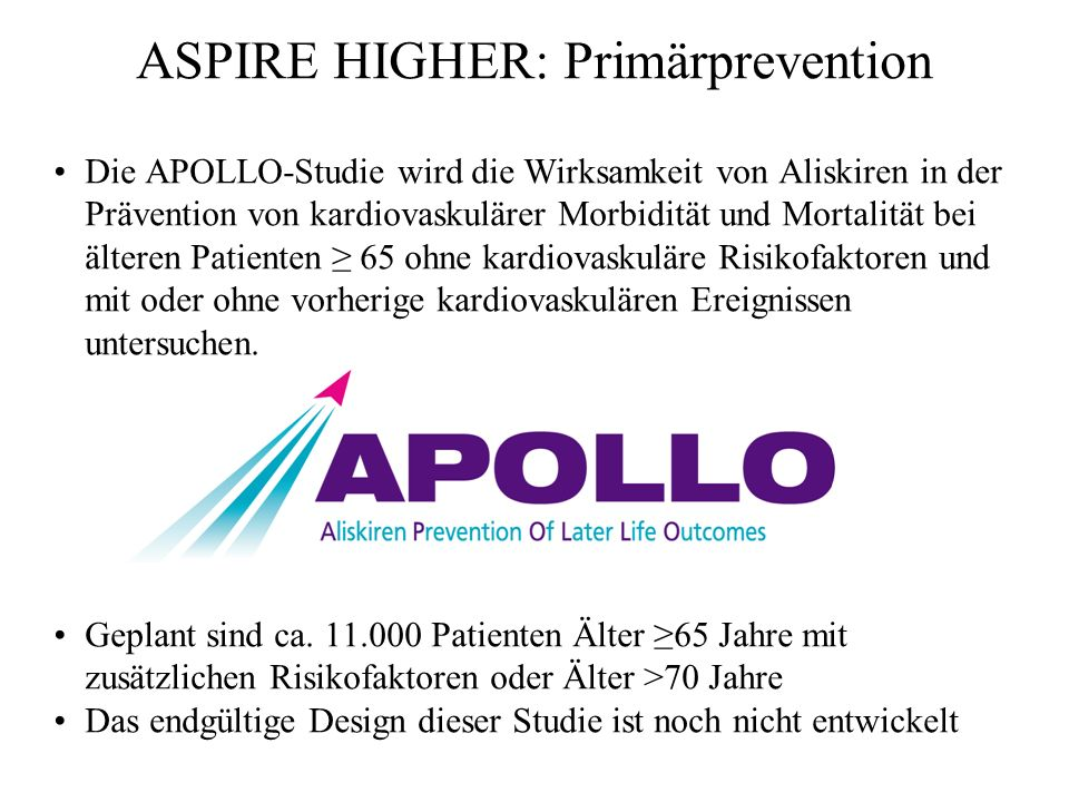 ASPIRE HIGHER: Primärprevention