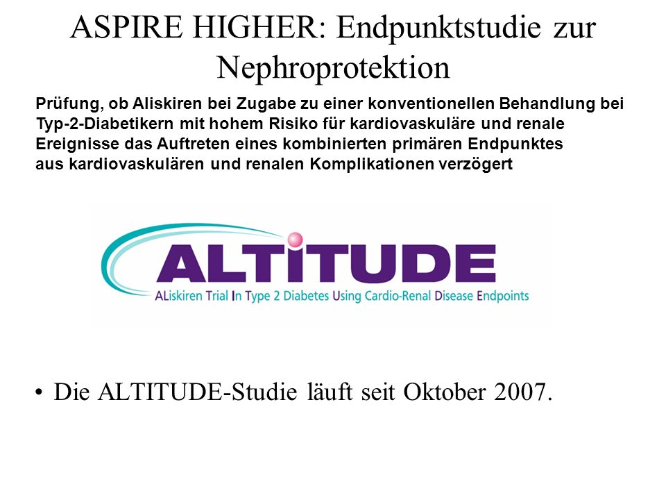 ASPIRE HIGHER: Endpunktstudie zur Nephroprotektion