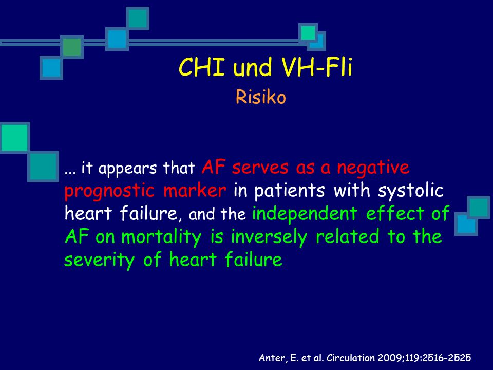 CHI und VH-Fli Risiko prognostic marker in patients with systolic