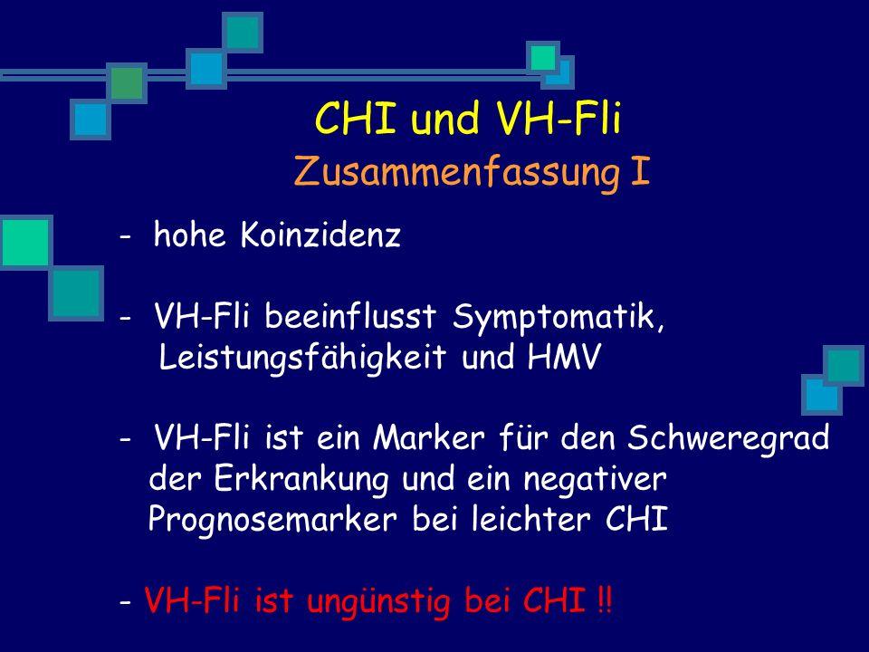 CHI und VH-Fli Zusammenfassung I hohe Koinzidenz