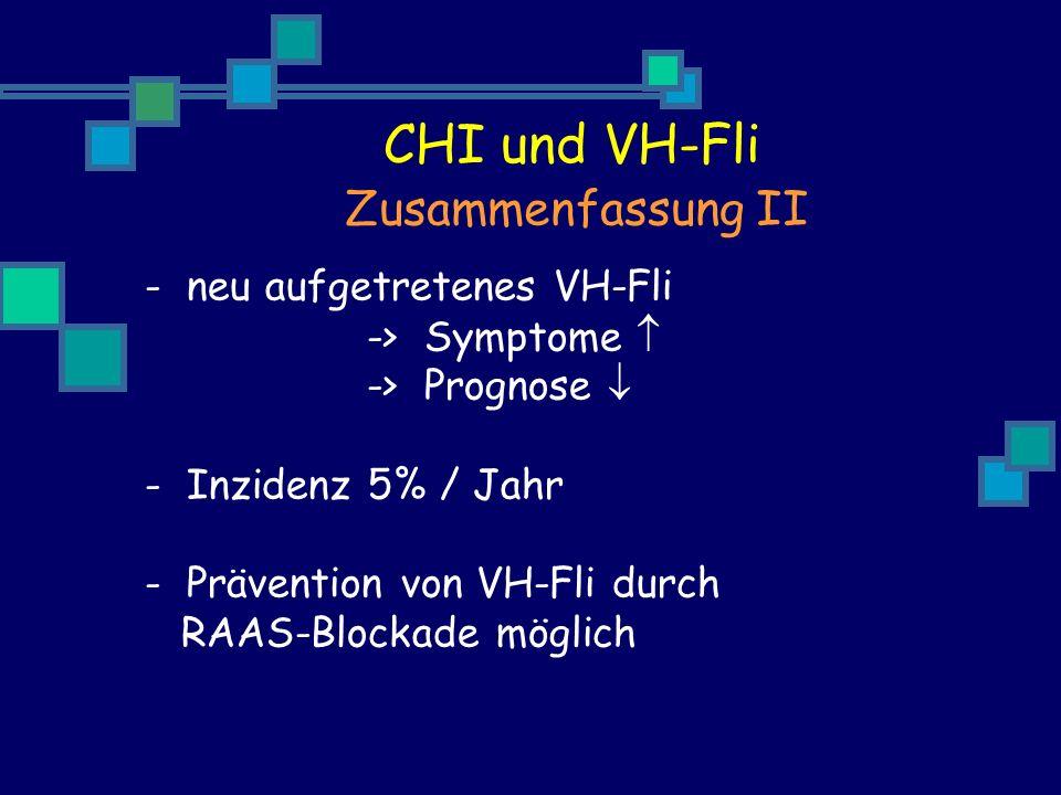CHI und VH-Fli Zusammenfassung II neu aufgetretenes VH-Fli