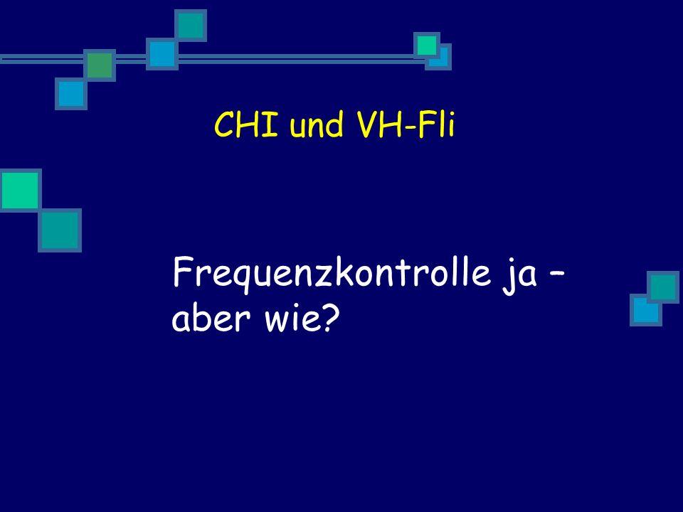 Frequenzkontrolle ja – aber wie
