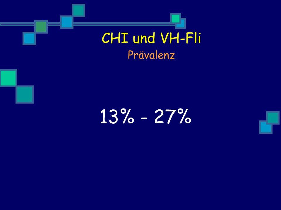 CHI und VH-Fli Prävalenz 13% - 27%