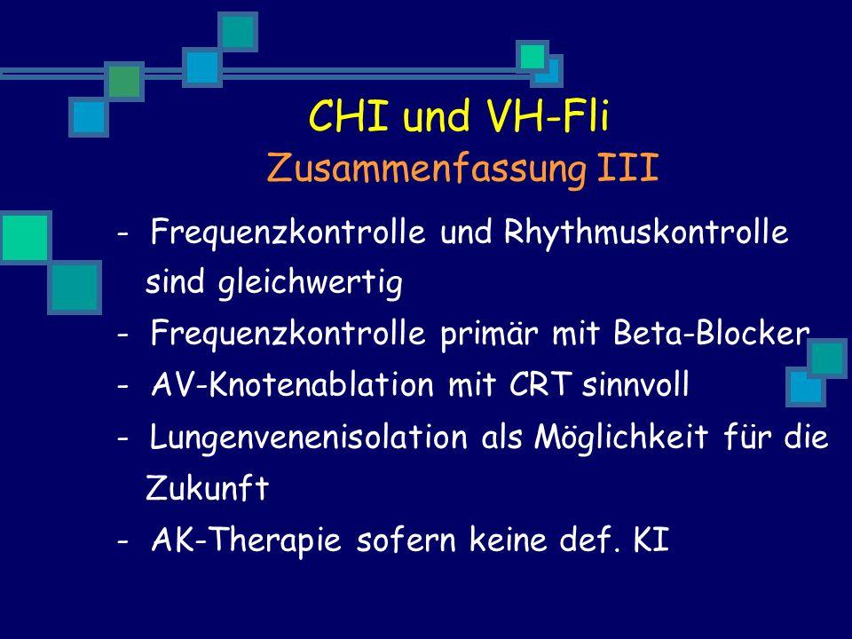 CHI und VH-Fli Zusammenfassung III